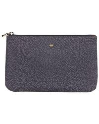 Borbonese Op Pouch In Anthracite - Gray