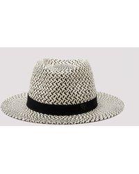 Maison Michel Andre Woven Panama Straw Trilby Hat - Multicolour