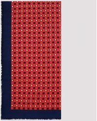 Gucci Red Modal Silk Shawl