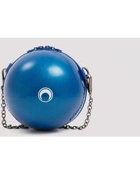 Marine Serre Mini Ball Bag Unica - Blue