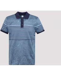 Berluti Cotton Polo T-shirt Xl - Blue