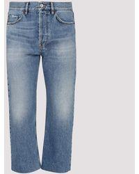 Balenciaga Indigo Cropped Jeans H - Blue