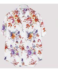 Dior Homme Bouquet De Fleurs Dior Silk Shirt - Multicolour