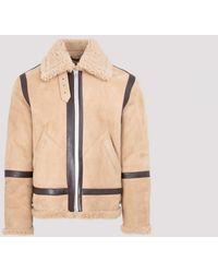 Acne Studios Shearling Jacket - Natural