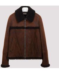 Prada Dark Brown Shearling Jacket