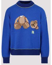 Palm Angels Wool Bear Weater - Blue