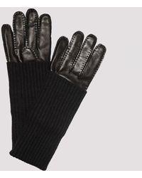 AMI Black Leather Gloves