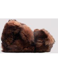 Vetements Teddy Bear Slippers - Brown