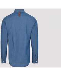 Paul Smith Gents Sc Slim Shirt L - Blue