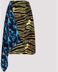 Marine Serre Printed Midi Skirt - Multicolor