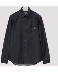 Dior Homme Dark Blue Denim Shirt