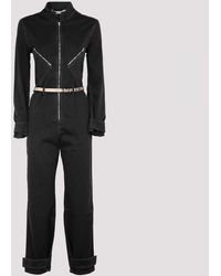 Stella McCartney Black Denim Jumpsuit With Logo 40