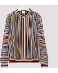 Paul Smith Signature Stripe Jacquard Wool Sweater - Multicolor