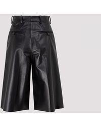 Acne Studios Leather Shorts 36 - Black