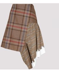 Lanvin - Tartan Asymmetric Skirt - Lyst