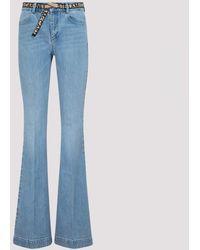 Stella McCartney Light Blue Belted Flared Jeans 27