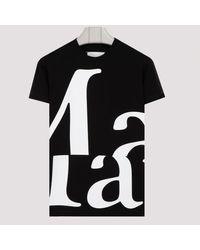 Maison Margiela Black And White T-shirt With Logo S
