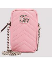 Gucci Pink Gg Marmont Mini Bag