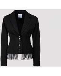 Alaïa Alaia Gabardine Jacket - Black