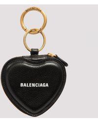 Balenciaga Cash Heart Mirror Case Unica - Black