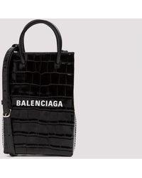 Balenciaga Shopping Phone Hold Unica - Black