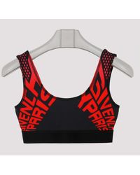 Givenchy Logo Print Sports Bra - Red