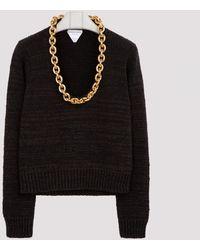 Bottega Veneta Brown Chain Jumper S - Black