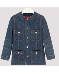 Gucci Blue Oversize Denim Jacket