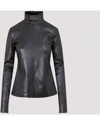 Bottega Veneta Leather Top - Black