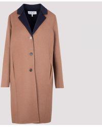 Loewe Anagram Bi-colour Coat - Multicolour
