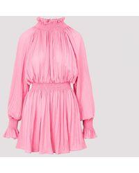 MSGM Ruffled Dress - Pink