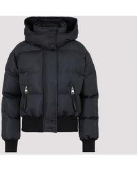 Alexander McQueen Graffiti Logo Down Jacket - Black