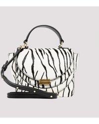 Wandler - Luna White Zebra Mini Bag - Lyst