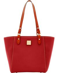 Dooney & Bourke Pebble Grain Janie Tote - Red
