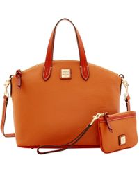 Dooney & Bourke Pebble Grain Satchel & Medium Wristlet - Multicolor