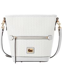 Dooney & Bourke Camden Woven Mini Hobo Crossbody - White