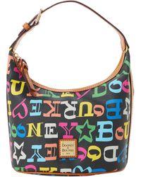 Dooney & Bourke Doodle Coated Cotton Bucket Bag - Multicolor