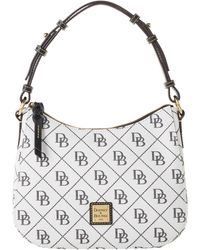 Dooney & Bourke Maxi Quilt Small Kiley Hobo - White