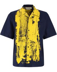 Marni Paint-effect Bowling Shirt - Multicolour
