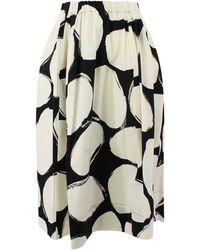 Marni Midi Skirt - White