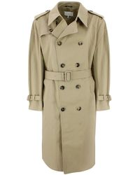 Maison Margiela Trench With Removable Belt - Natural
