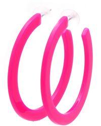 J.Jayz Paar Creolen in leuchtender Neon-Optik - Pink