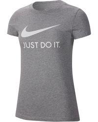 Nike T-Shirt »W NSW TEE JDI SLIM« - Grau