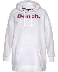 Bench Longsweatshirt DAYLA, Sweatkleid mit frontalem Logoprint - Weiß