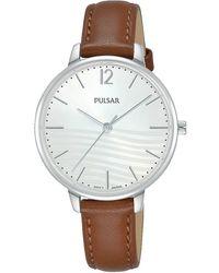 Pulsar Quarzuhr Damen Quarz, PH8487X1 - Braun
