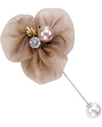 J.Jayz JJayz Anstecknadel in Blütenform mit dekorativen Details - Natur