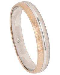 Firetti Trauring mit Gravur eismatt, Diamantschnitt, 4,0 mm breit - Mehrfarbig