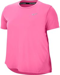 Nike Laufshirt WOMENS SHORT-SLEEVE TOP PLUS SIZE - Pink
