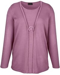 m. collection - Pullover in 2-in-1-Optik - Lyst
