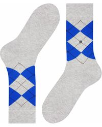 Burlington Socken Neon King (1 Paar) - Grau